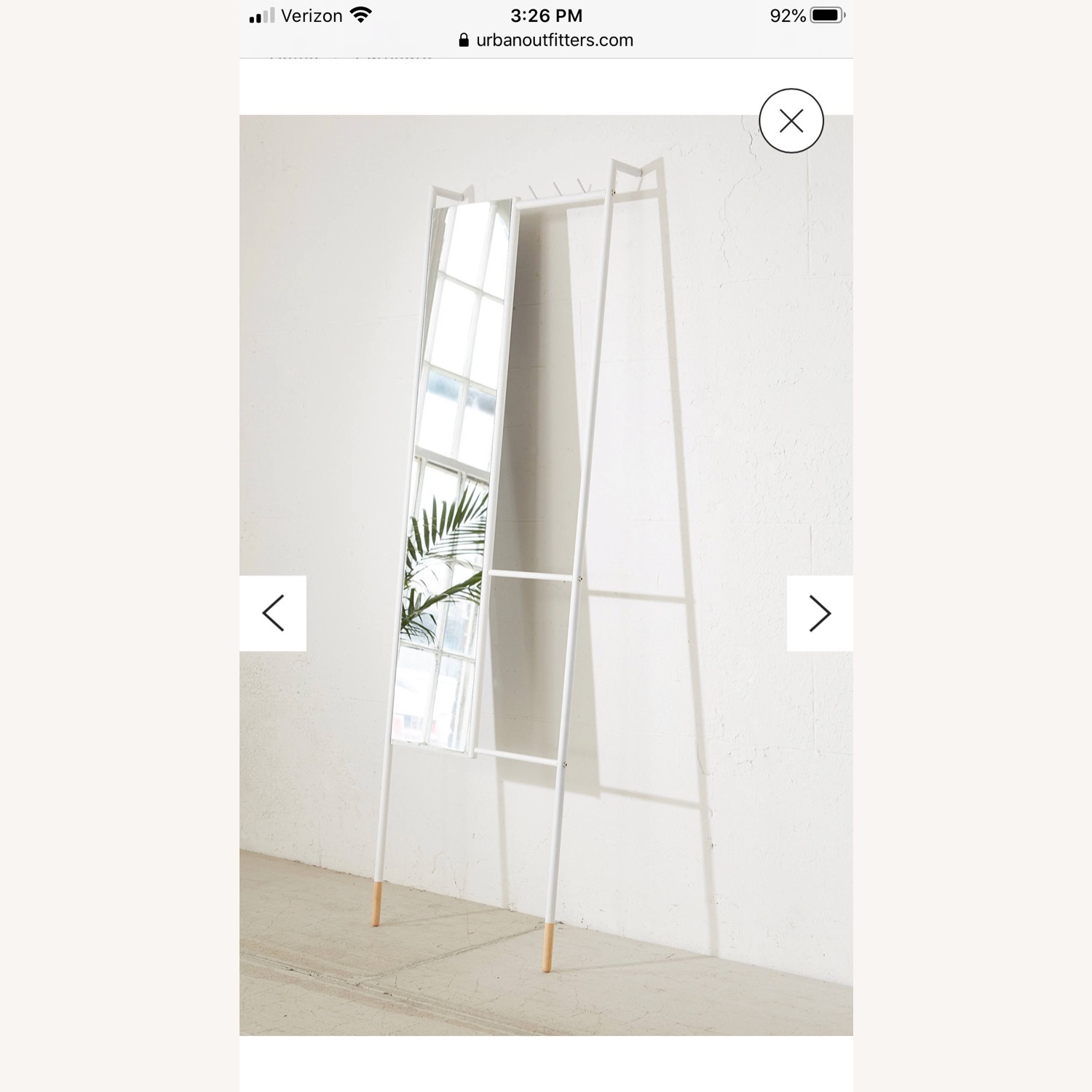 Urban Outfitters Leni Leaning Mirror - image-3
