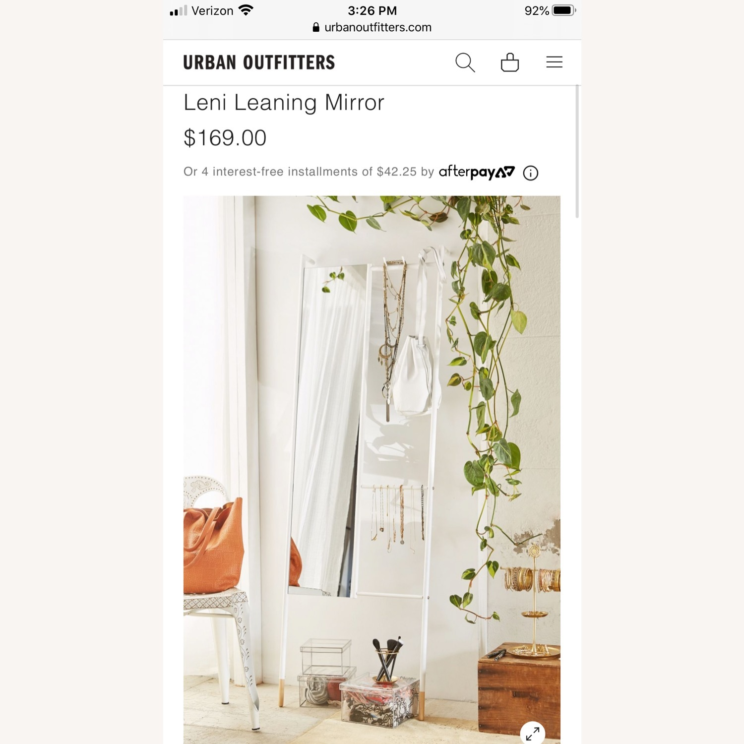 Urban Outfitters Leni Leaning Mirror - image-2