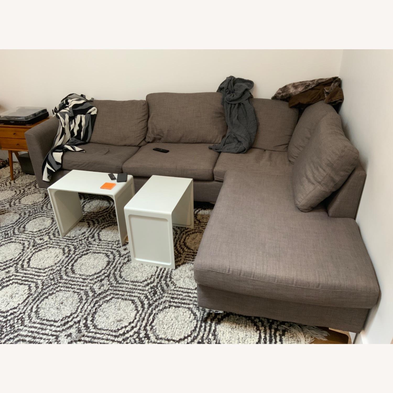 Wayfair Grey Sectional Sofa - image-1