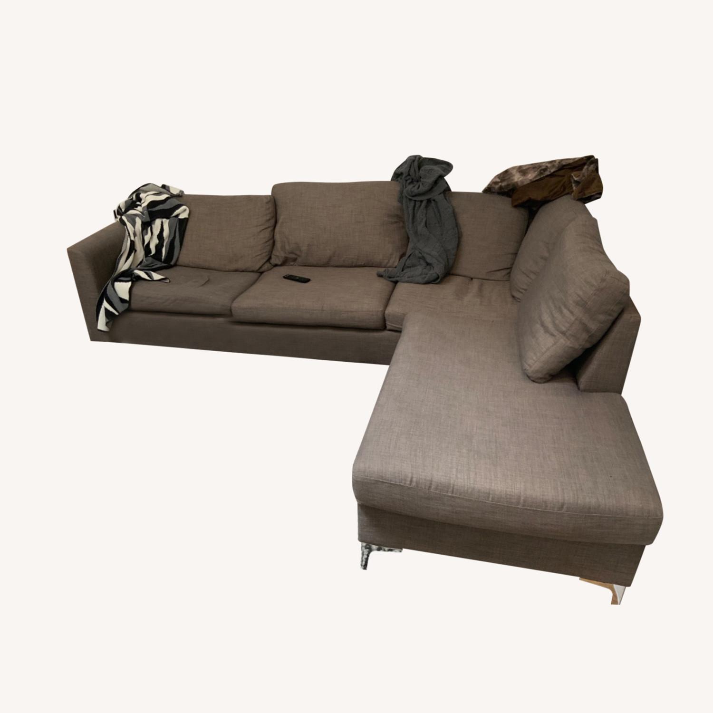 Wayfair Grey Sectional Sofa - image-0