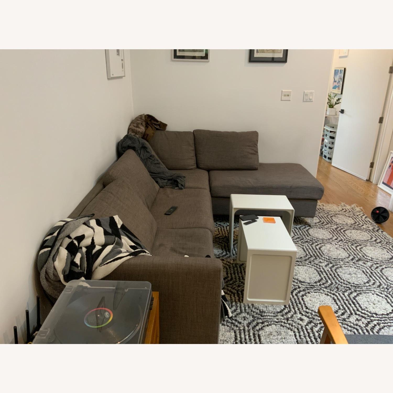 Wayfair Grey Sectional Sofa - image-3