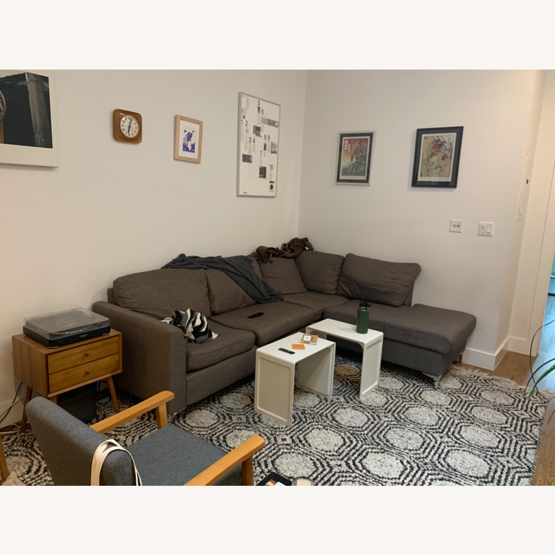 Wayfair Grey Sectional Sofa - image-2
