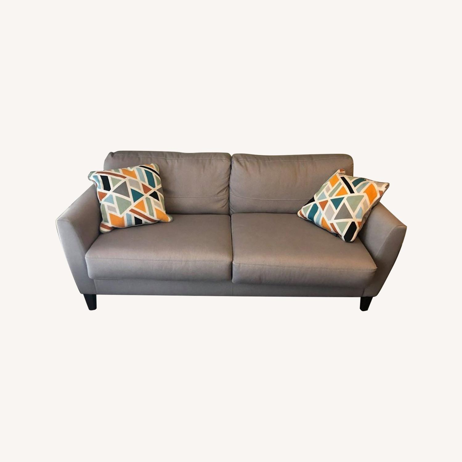 Ashley Furniture Comfortable Grey Couch - image-0