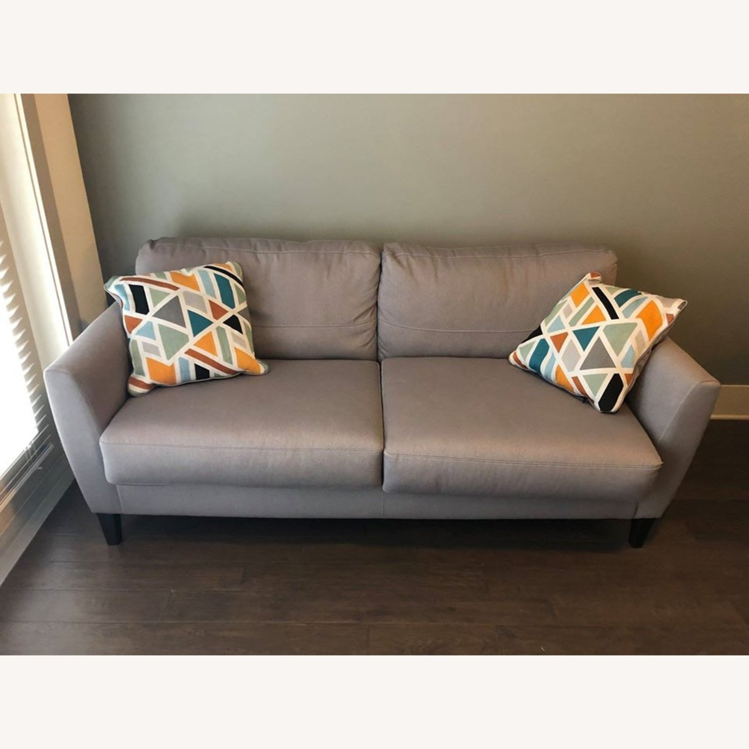 Ashley Furniture Comfortable Grey Couch - image-1