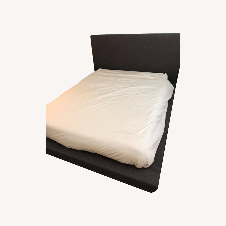 Wayfair Grey Upholstered Platform Bed - image-0
