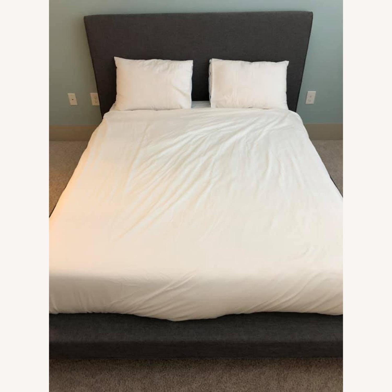 Wayfair Grey Upholstered Platform Bed - image-1