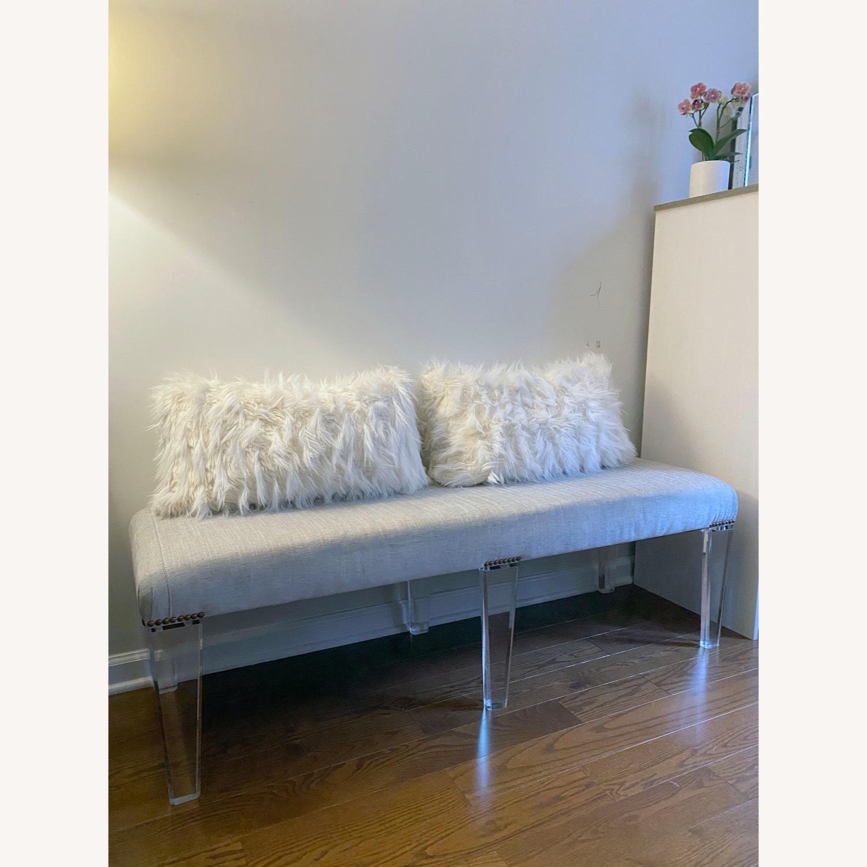 Century Furniture Custom Acrylic Ottoman - image-1