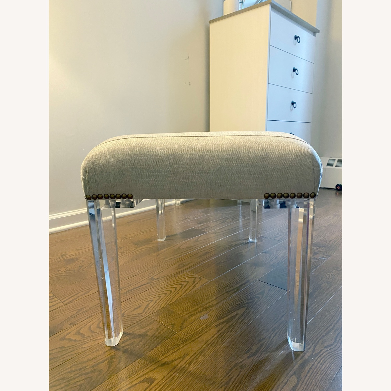 Century Furniture Custom Acrylic Ottoman - image-3