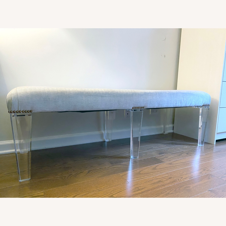 Century Furniture Custom Acrylic Ottoman - image-2