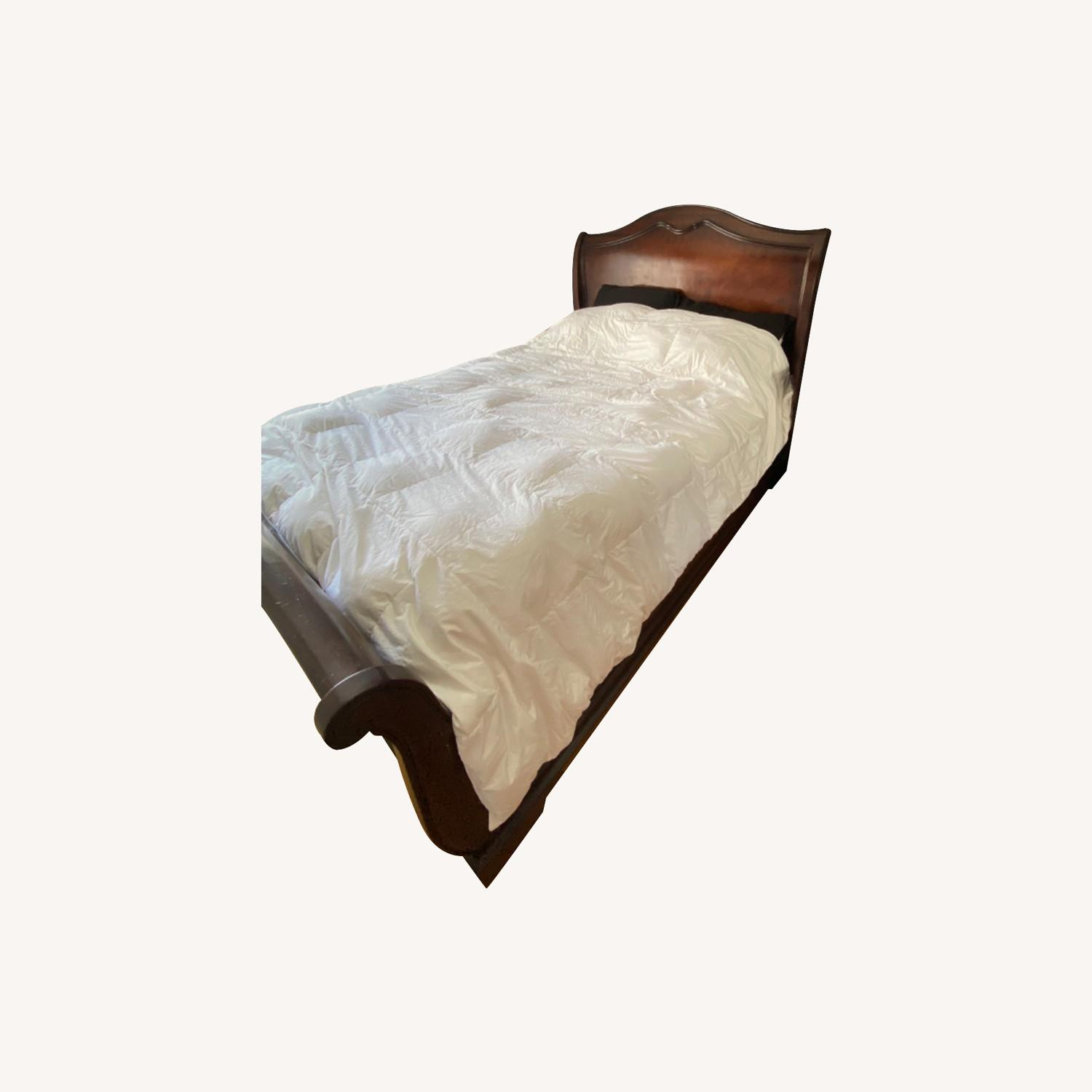 Raymour & Flanigan Sleigh Queen Bed - image-0