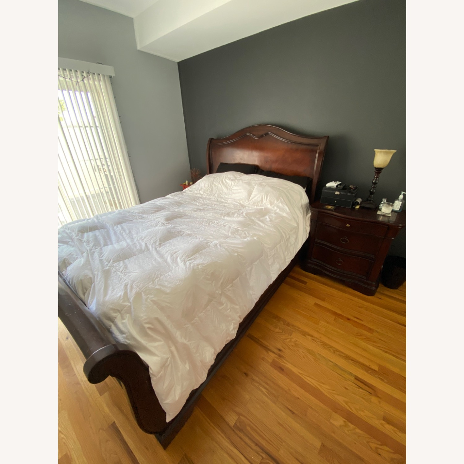 Raymour & Flanigan Sleigh Queen Bed - image-1