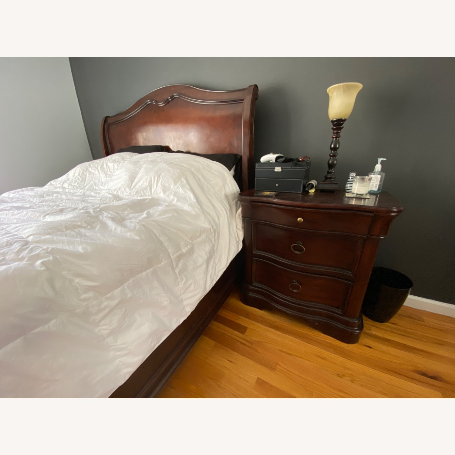 Raymour & Flanigan Sleigh Queen Bed - image-2