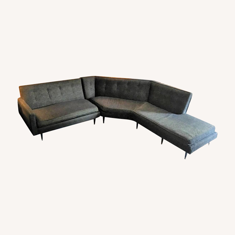 Vintage Mid Century Modern 2 Piece Sectional Sofa - image-0
