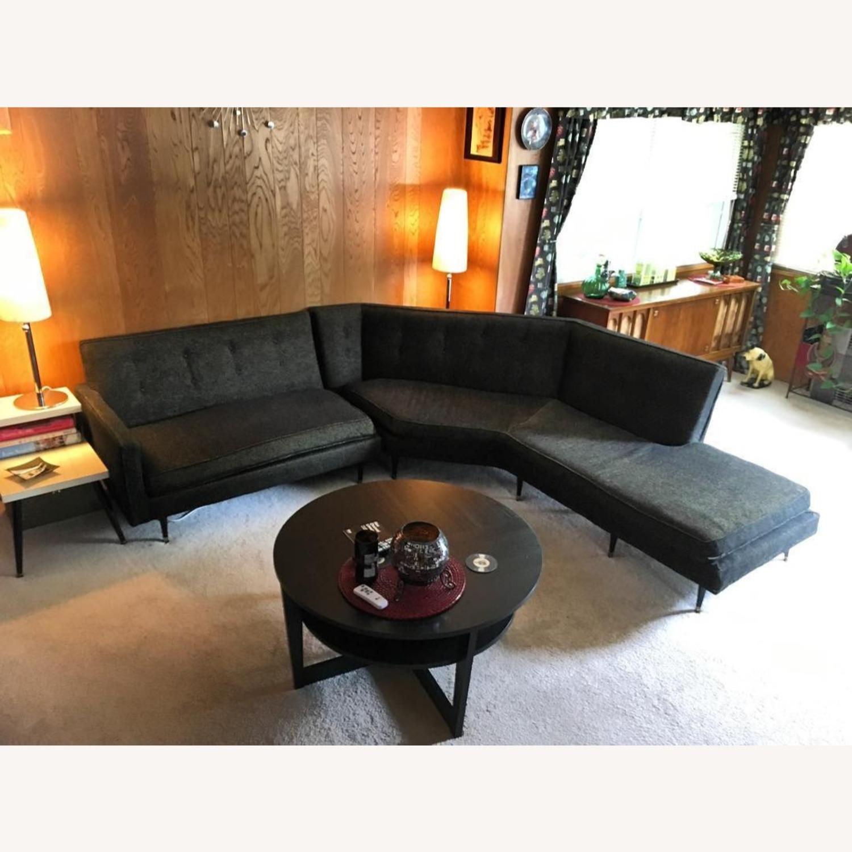 Vintage Mid Century Modern 2 Piece Sectional Sofa - image-10