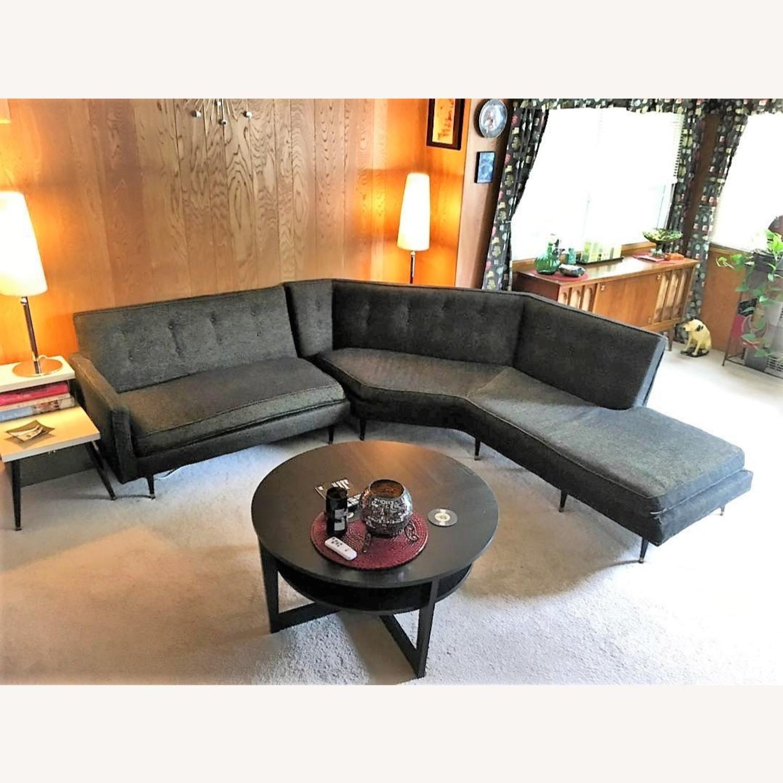 Vintage Mid Century Modern 2 Piece Sectional Sofa - image-1