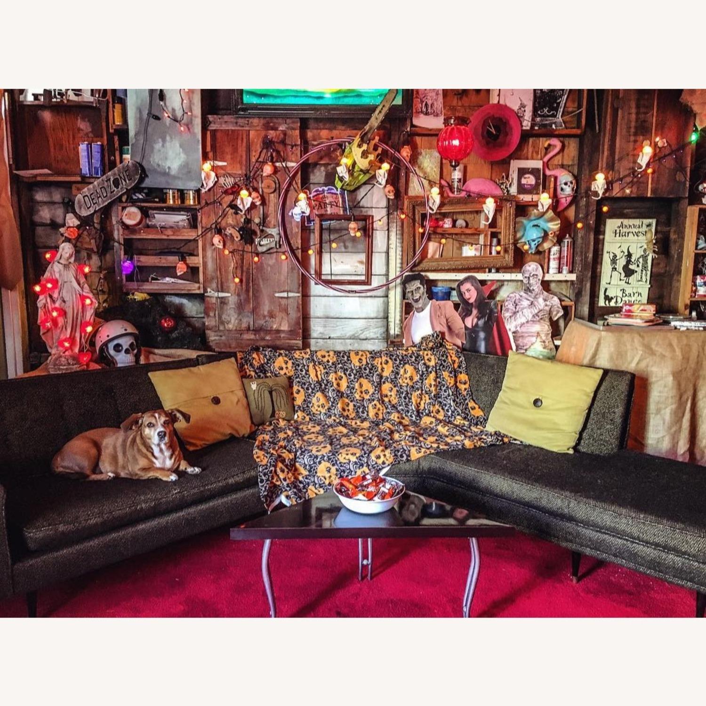 Vintage Mid Century Modern 2 Piece Sectional Sofa - image-11