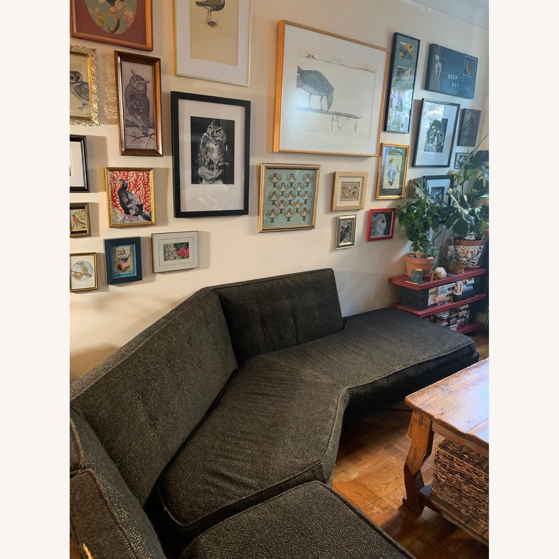 Vintage Mid Century Modern 2 Piece Sectional Sofa - image-13