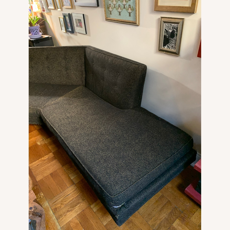 Vintage Mid Century Modern 2 Piece Sectional Sofa - image-3