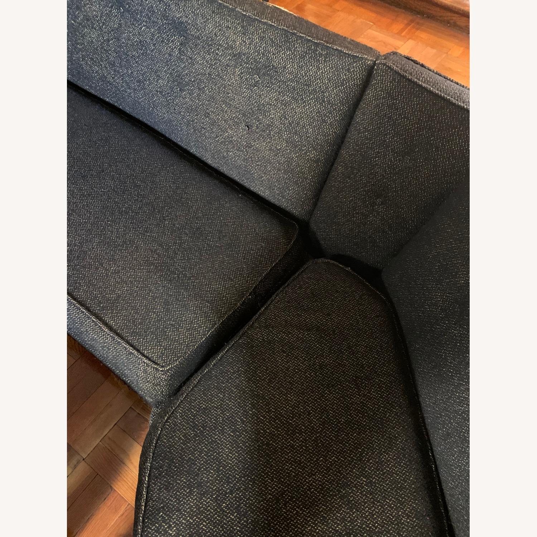 Vintage Mid Century Modern 2 Piece Sectional Sofa - image-9
