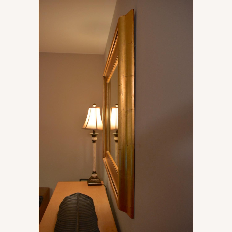 Gold Leaf Framed Mirror - image-1