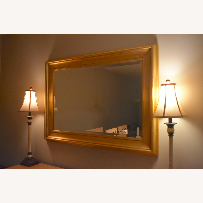 Gold Leaf Framed Mirror - image-0