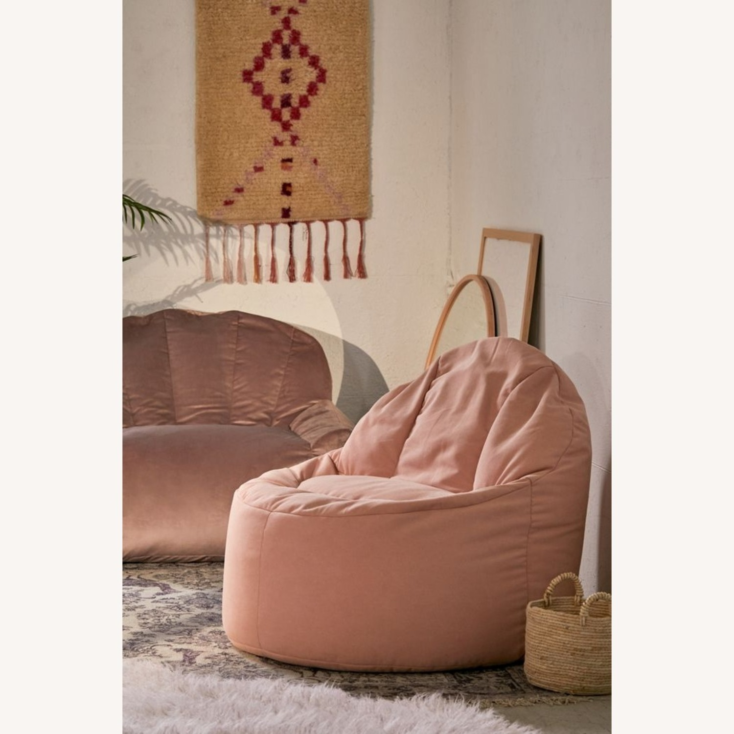 Urban Outfitters Dusty Rose Bean Bag - image-4