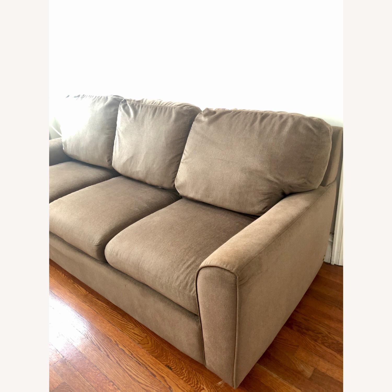 American Leather Alpaca Wool Capuchino 3 Seat Sofa - image-1