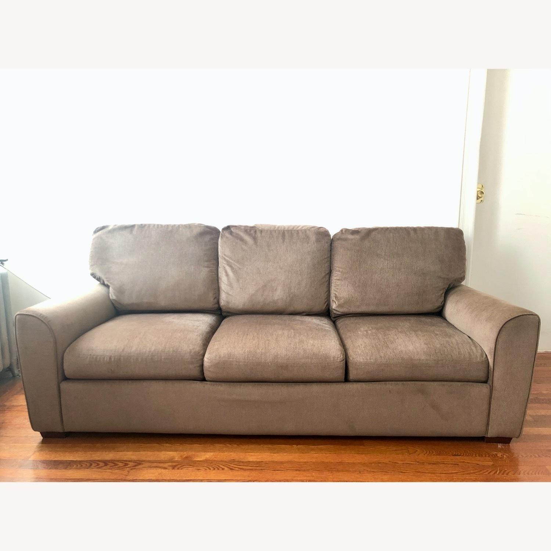 American Leather Alpaca Wool Capuchino 3 Seat Sofa - image-0