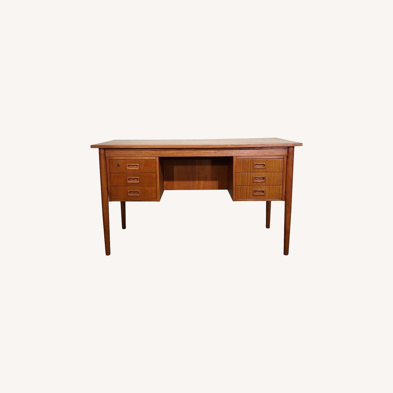 Vintage Danish Teak Desk (Grein) - image-0