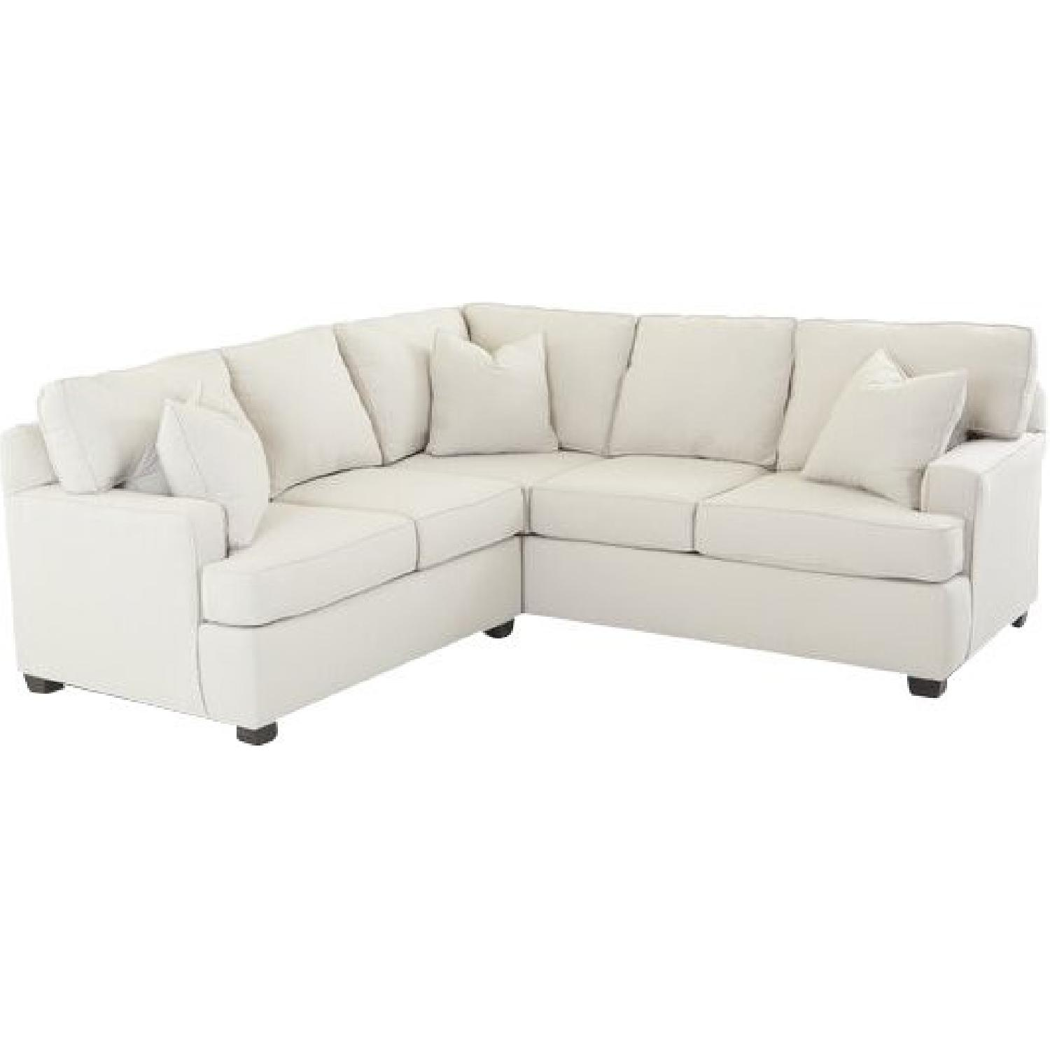 Wayfair Russell Farm Ivory Sectional Sofa - image-0