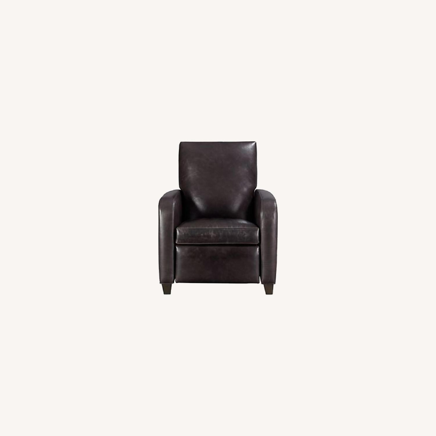 Crate & Barrel Leather Recliner - image-0