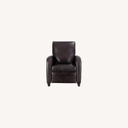 Used Crate & Barrel Leather Recliner for sale on AptDeco