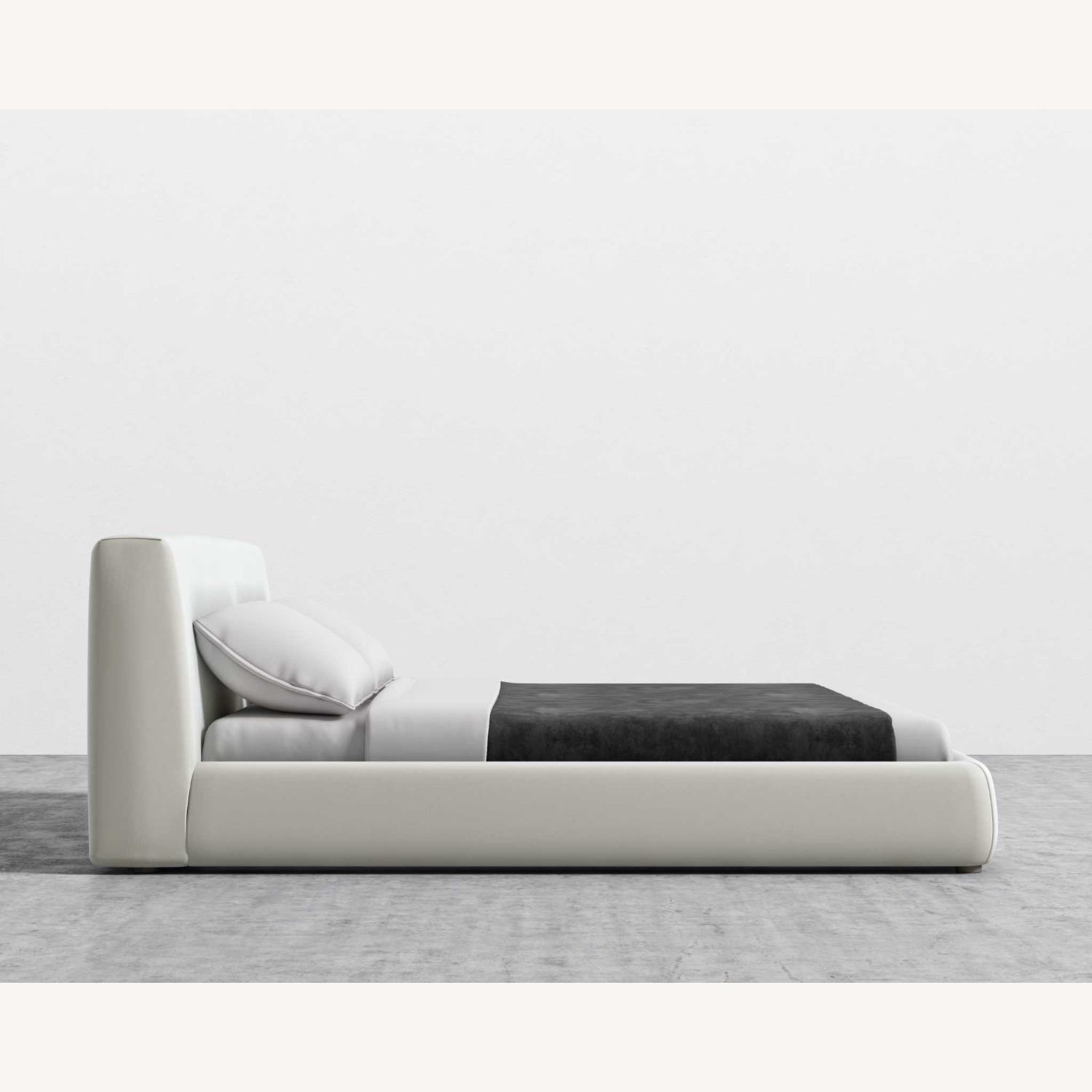 Rove Concepts Upholstered Queen Bed Frame White - image-3
