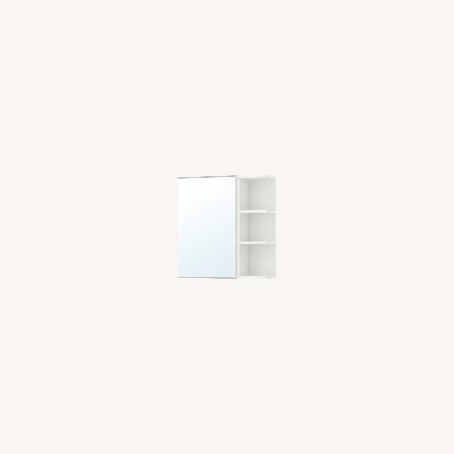 Used IKEA Medicine Cabinet for Bathroom White Mirrored for sale on AptDeco
