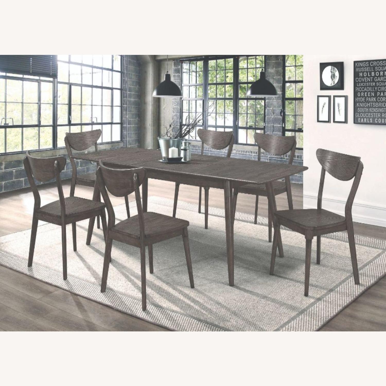 Modern Dining Table In Dark Grey W/ Butterfly Leaf - image-3