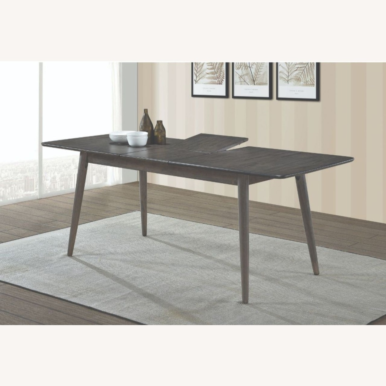Modern Dining Table In Dark Grey W/ Butterfly Leaf - image-2