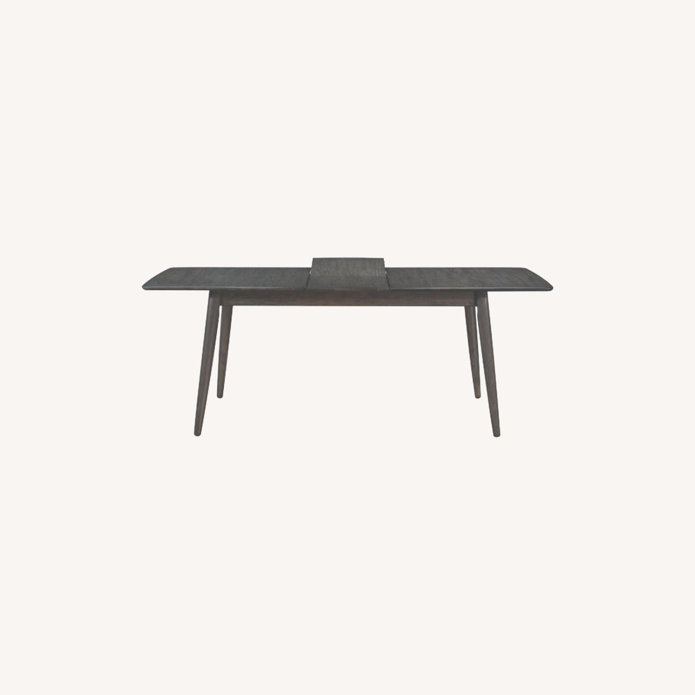 Modern Dining Table In Dark Grey W/ Butterfly Leaf - image-4