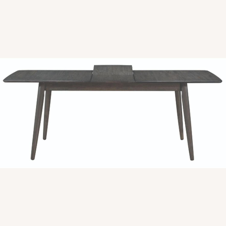 Modern Dining Table In Dark Grey W/ Butterfly Leaf - image-1