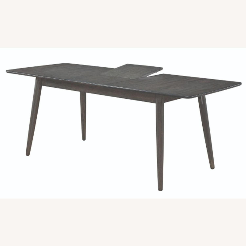 Modern Dining Table In Dark Grey W/ Butterfly Leaf - image-0