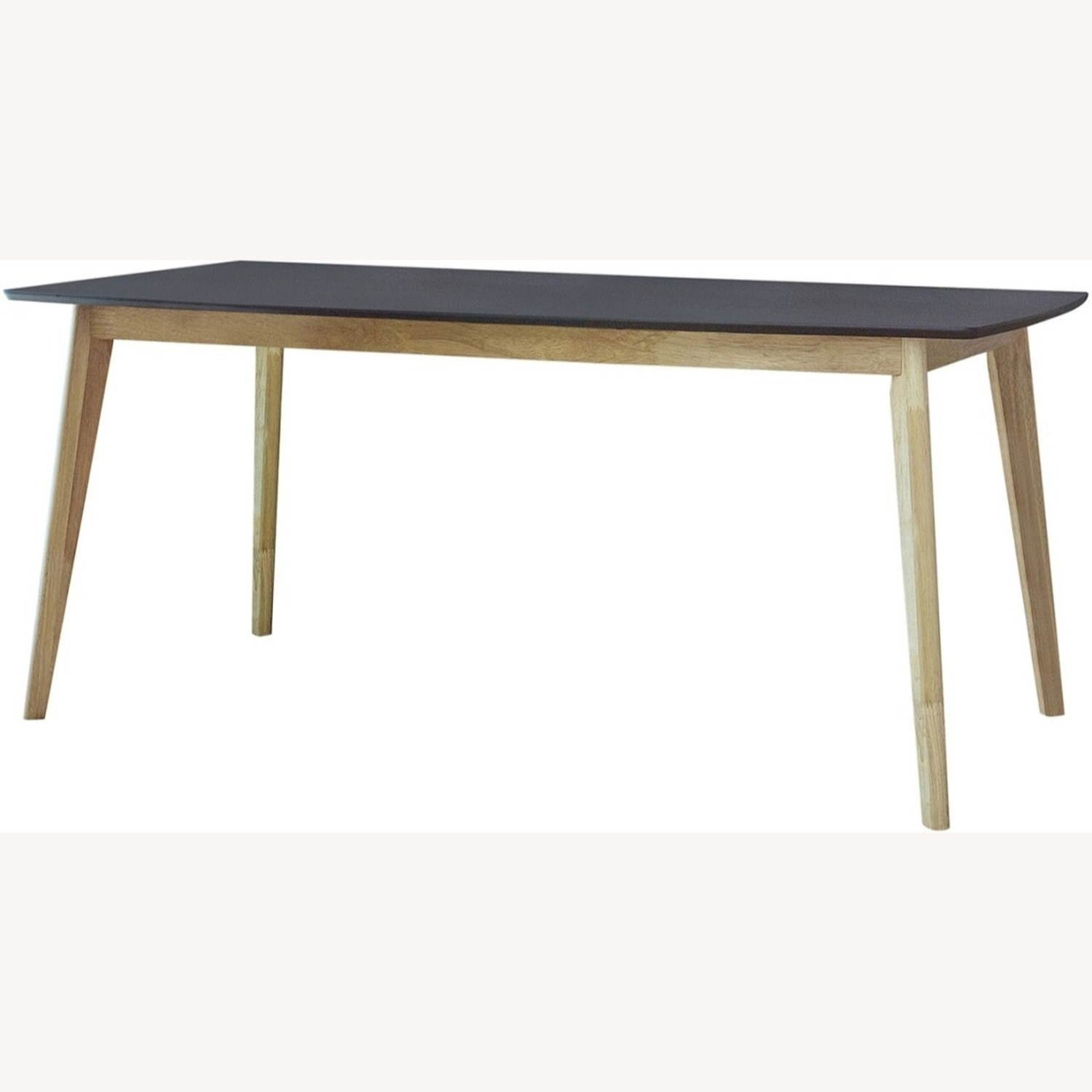Dining Table In Matte Black And Natural Finish - image-0
