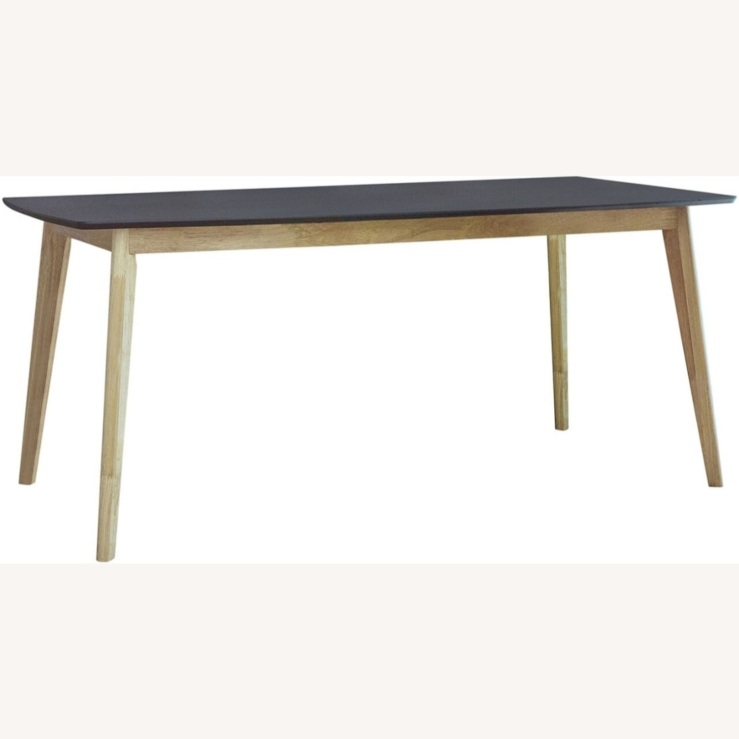 Dining Table In Matte Black And Natural Finish - image-1