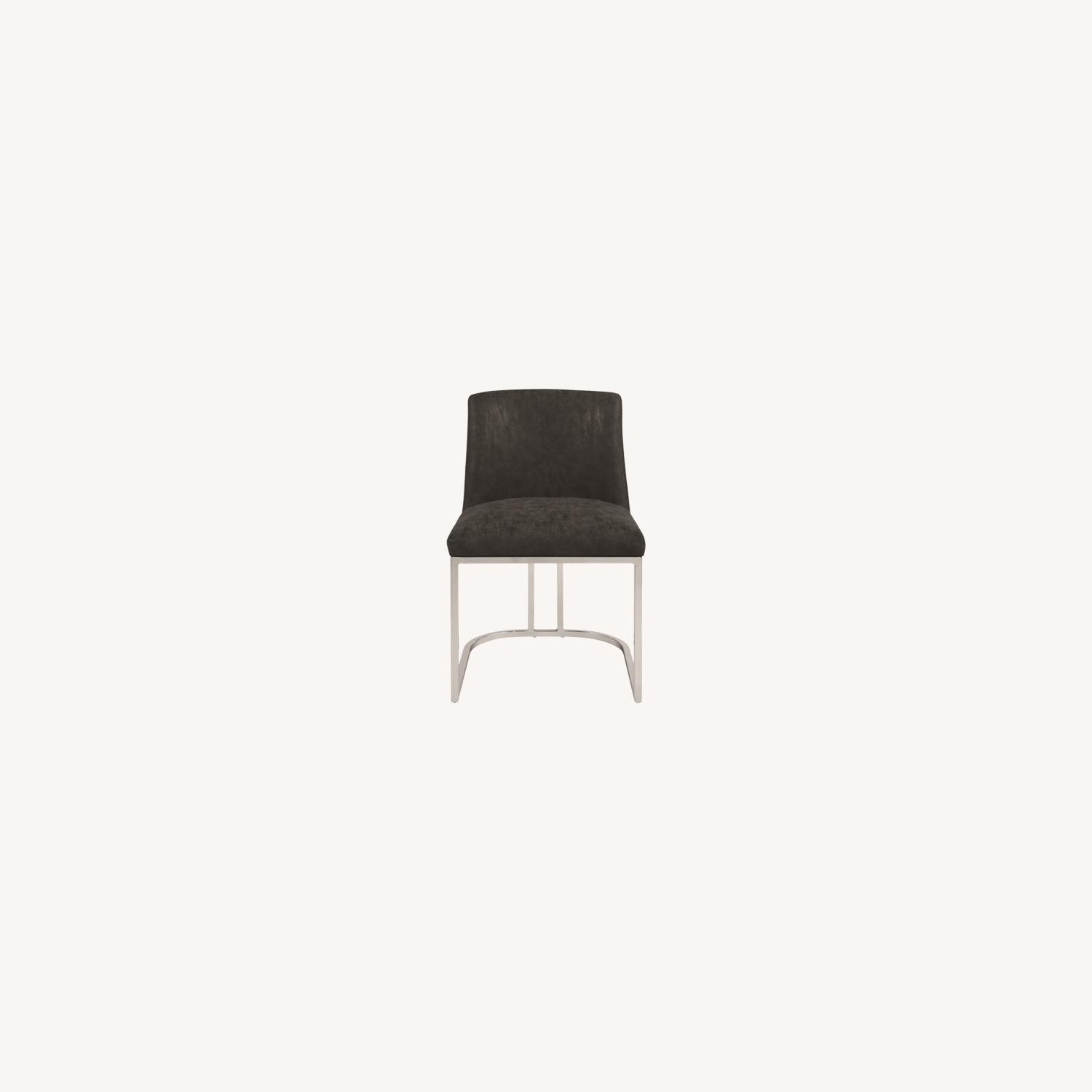Modern Dining Chair In Black Leatherette - image-4