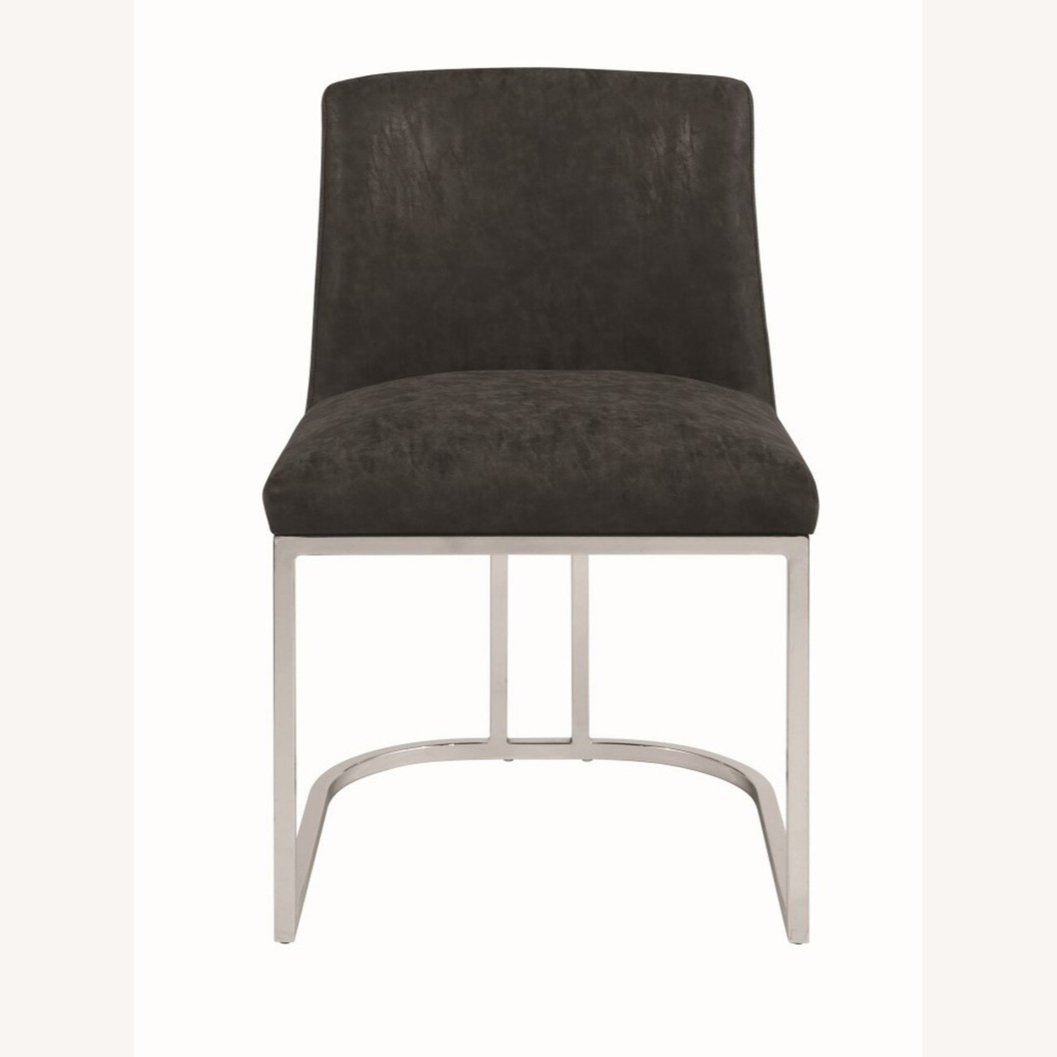 Modern Dining Chair In Black Leatherette - image-1