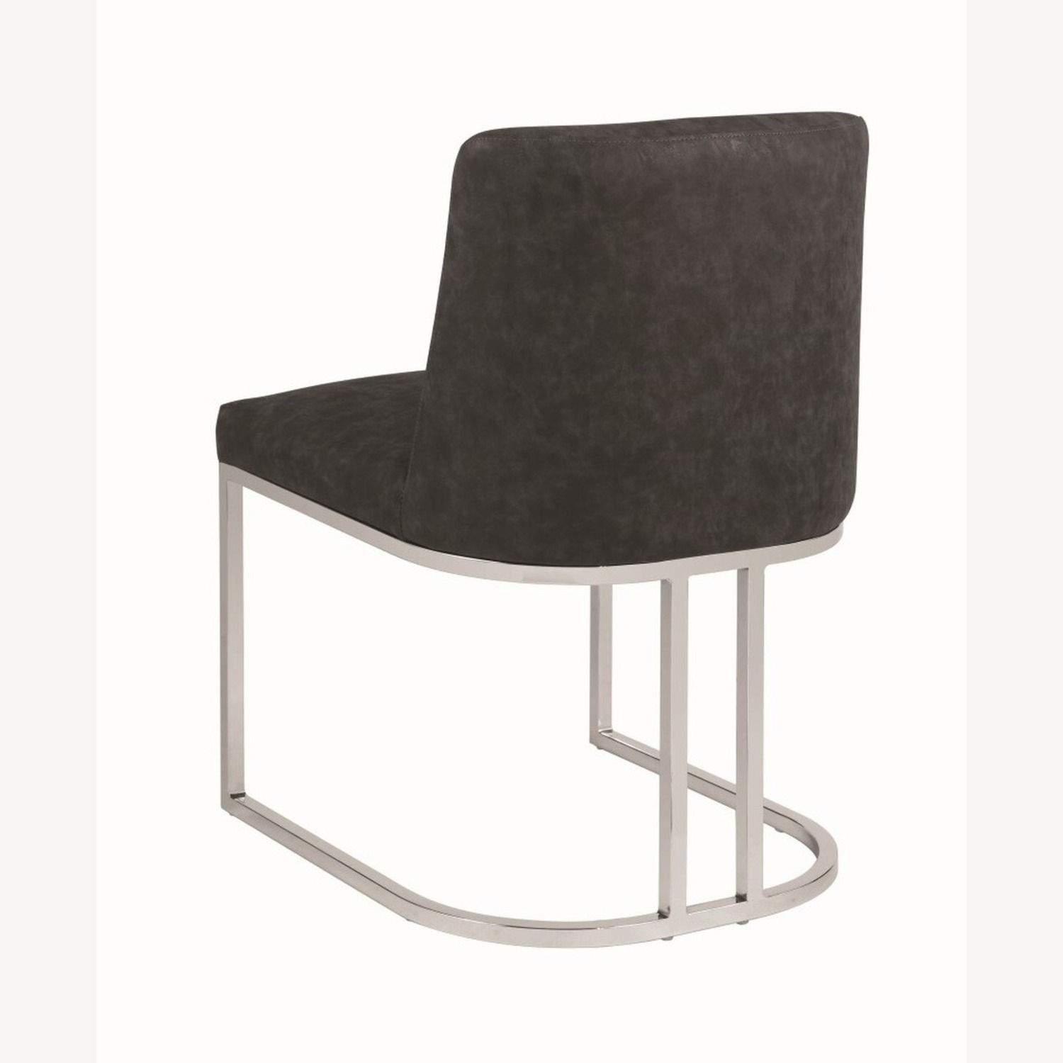 Modern Dining Chair In Black Leatherette - image-2