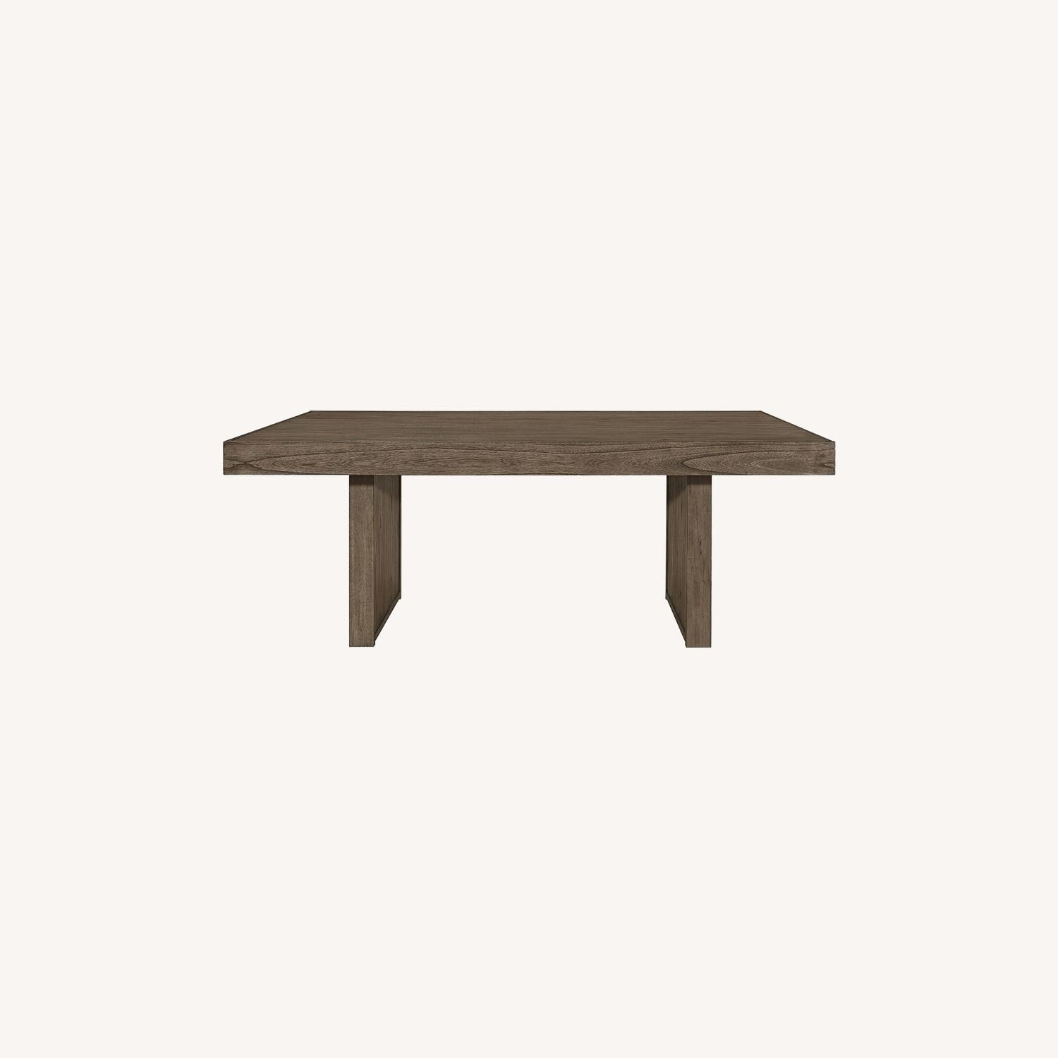 Dining Table Made From Wheat Brown Hardwood - image-4