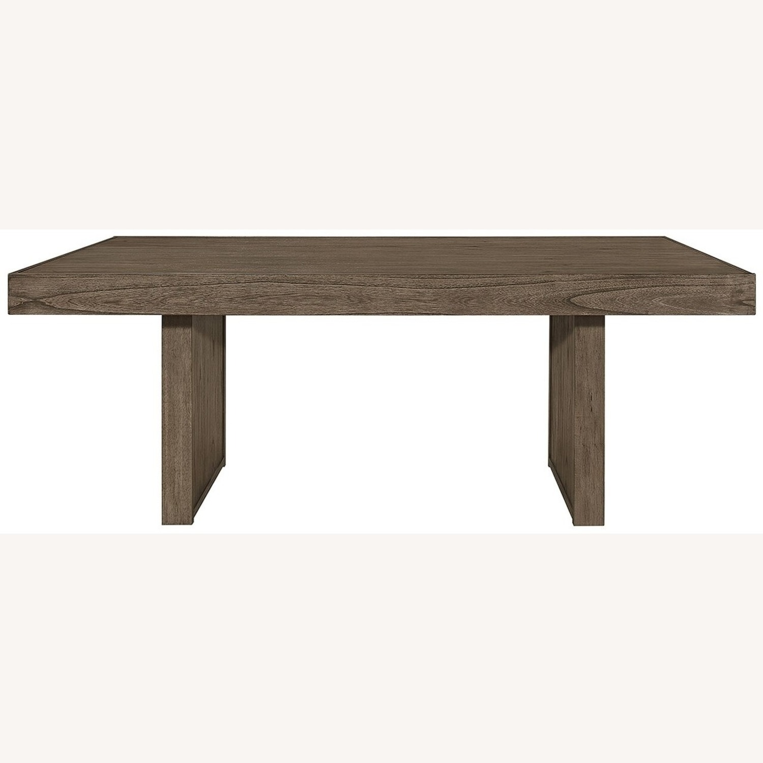 Dining Table Made From Wheat Brown Hardwood - image-0