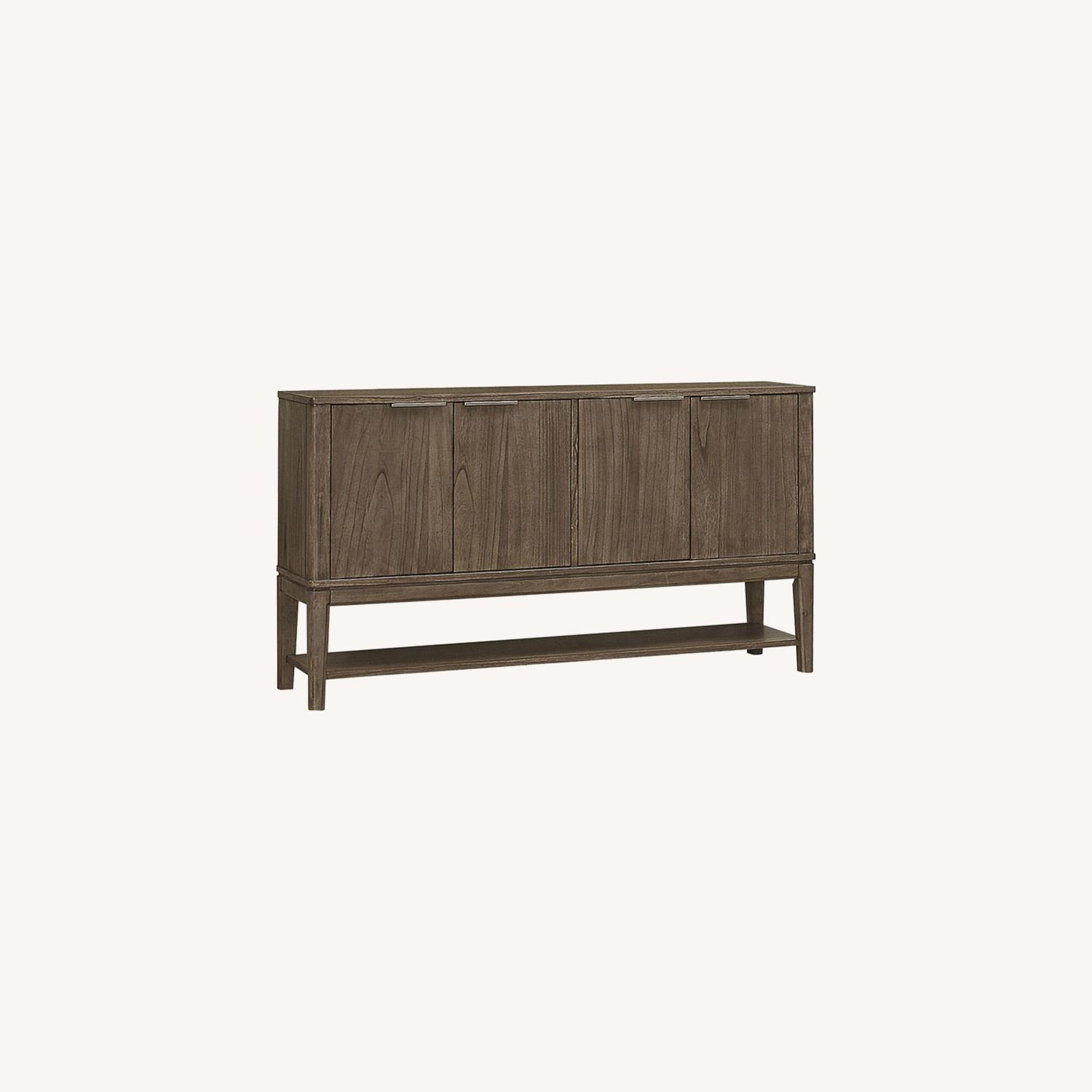 Contemporary Server In Wheat Brown Solid Hardwood - image-4
