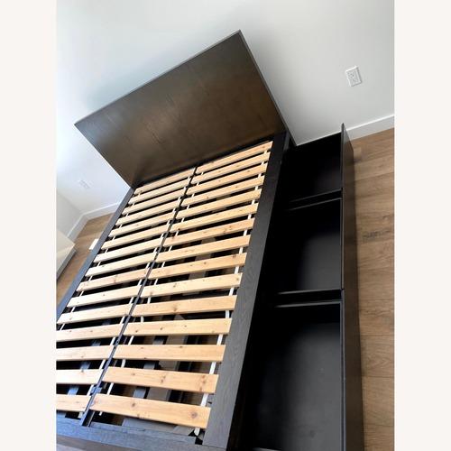 Used West Elm Full Storage Platform Bed Set w/6 Drawers for sale on AptDeco