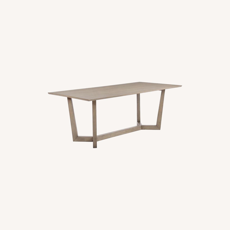 Modern Danish Style Dining Table In Grey Oak - image-5