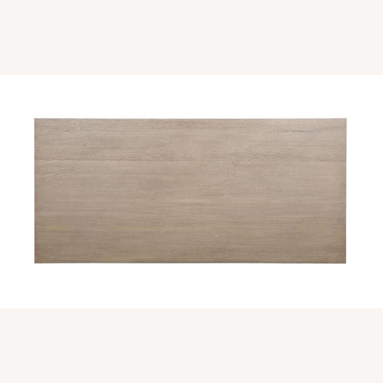 Modern Danish Style Dining Table In Grey Oak - image-2